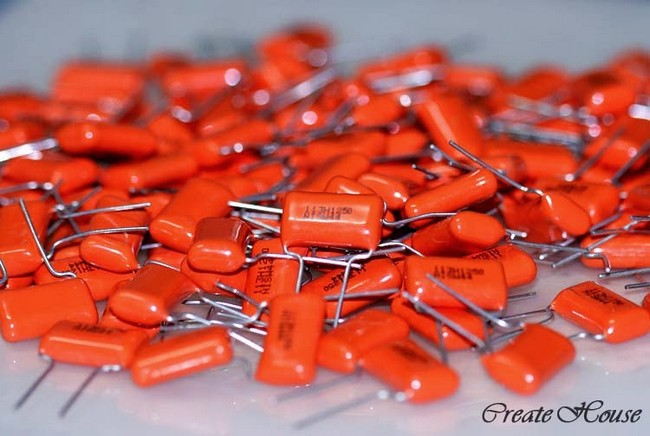 orange drop capacitor  radial film 0.011 uf-250v